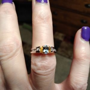 Genuine natural Alexandrite color change ring